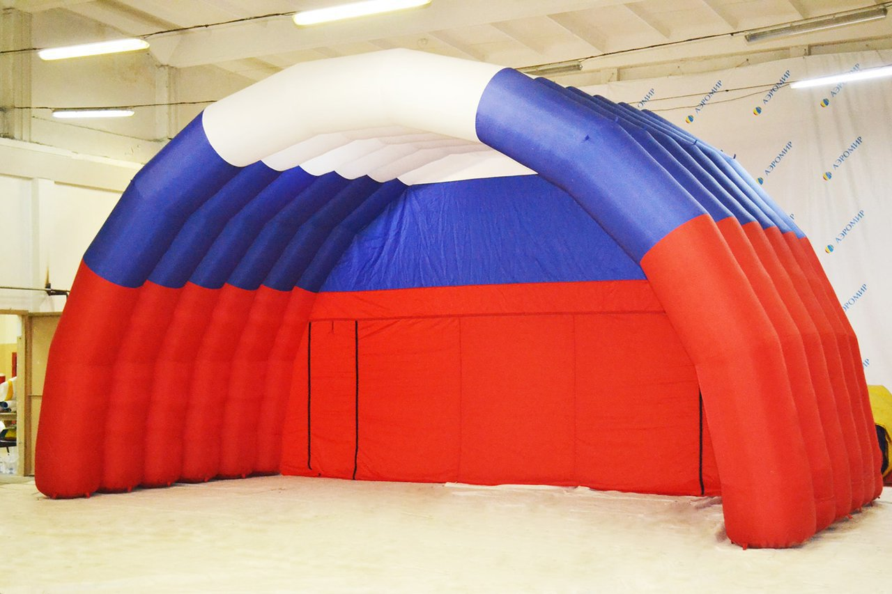 Beautiful inflatable tricolor scene for the village of Marushkino, Moscow Region