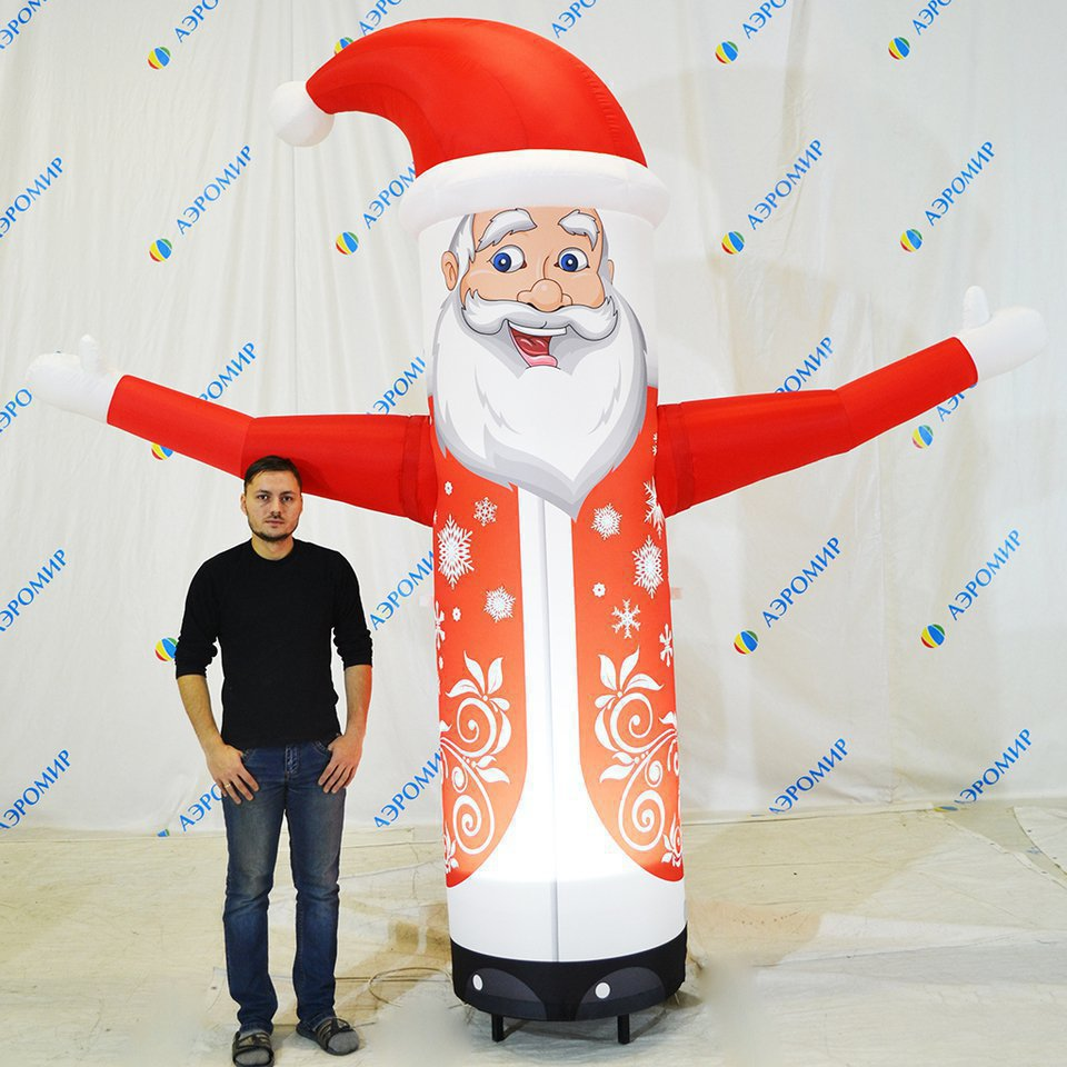 Inflatable Santa Claus in express design waving his hand