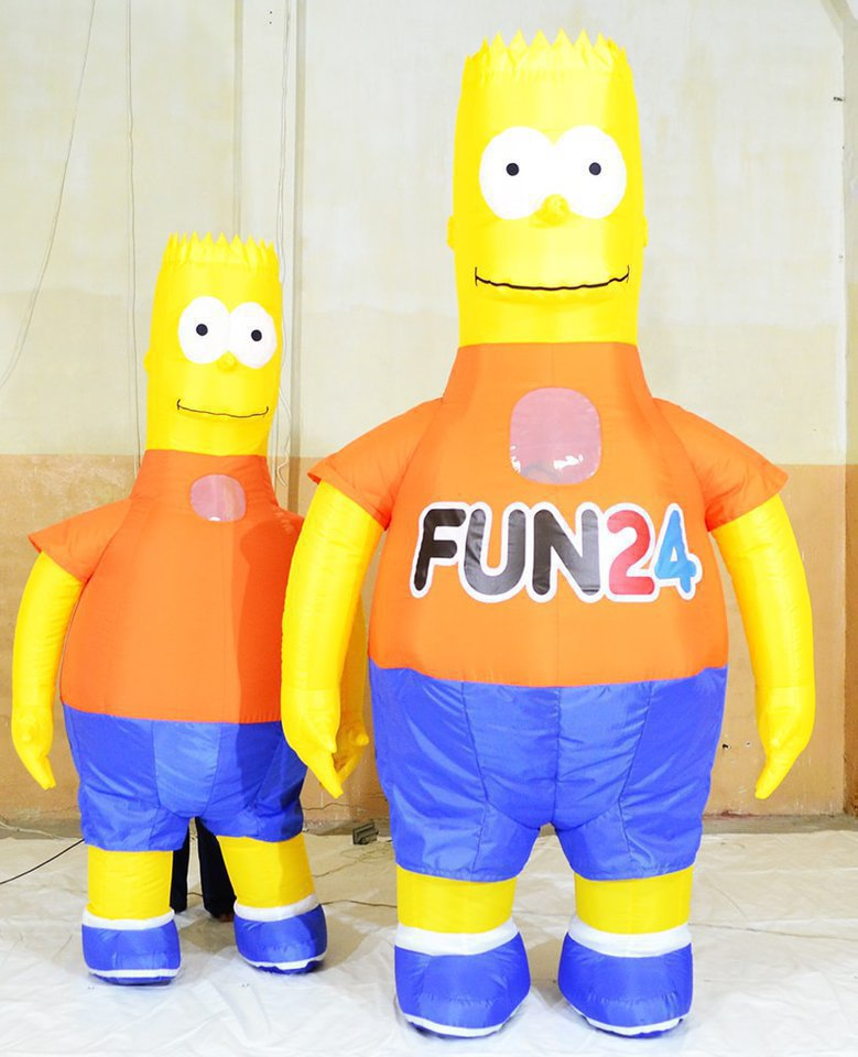 "Pneumatic suit ""Bart Simpson"" for advertising"