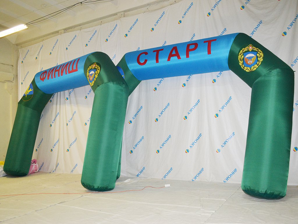Inflatable arches Start-Finish 4 * 3 m, branded airborne
