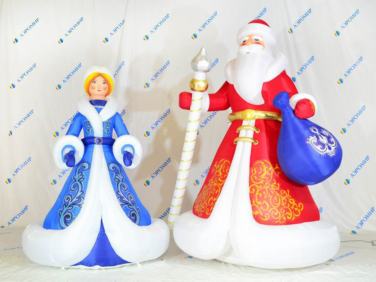 "Set of Christmas figures ""Santa Claus and Snow Maiden"" (premium) for Belgrankorm LLC Belgorod"