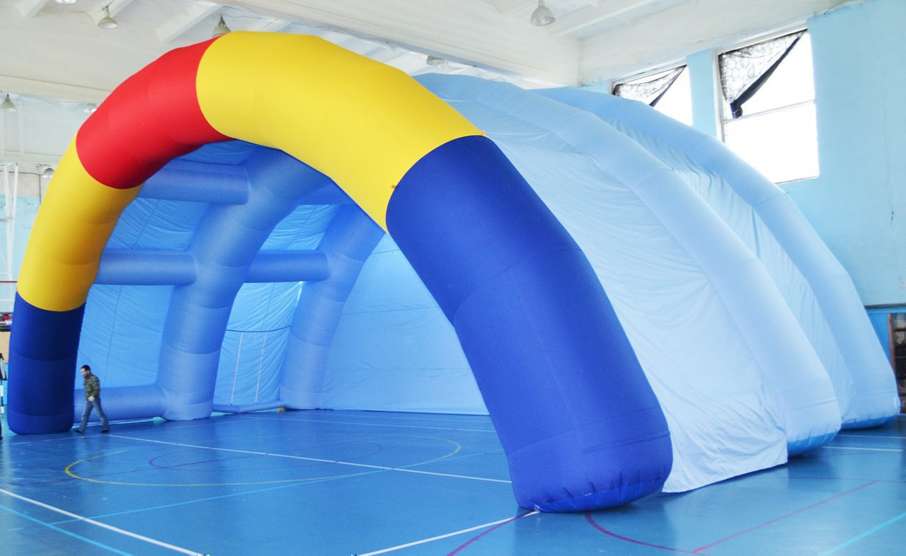 "Huge inflatable scene for MBU ""Management of Culture and Youth Policy"" of the municipality ""City of Lensk"""